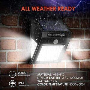 驚きの照射力 LED COB 60灯 車庫 人感 屋外 防水 自動点灯 センサー ライト 太陽光 ソーラー 防犯 玄関灯 セキュリティ