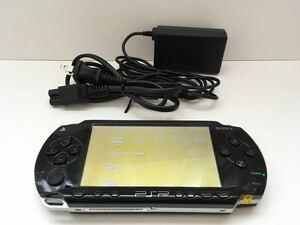 ★送料無料★『プレイステーションポータブル PSP-1000 本体 ブラック』 純正バッテリー・充電器/充電可能/ジャンク