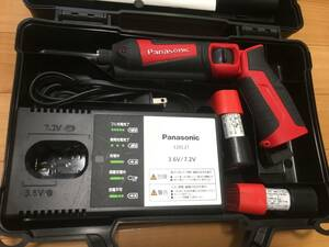 【中古動作確認済】パナソニック panasonic インパクトドライバー 7.2V EZ7521 電池2個 ヤフネコ!(宅急便)