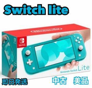 美品 任天堂 ニンテンドースイッチライト ターコイズブルー 本体 充電器 Nintendo Switch Lite light