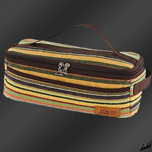 【可愛いストライプ柄】 クッキングツールボックス 調理器具 調味料ケース スパイスボックス アウトドア キャンプ BBQ