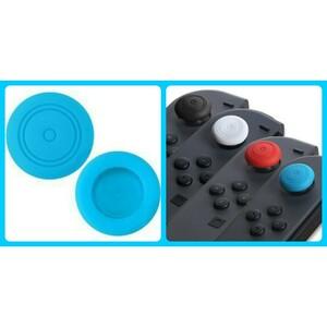ニンテンドースイッチ スティック ジョイコン シリコン カバー 2個セット 青