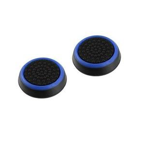 2個セット PS4等 コントローラー キャップ ジョイスティック カバー 黒 青