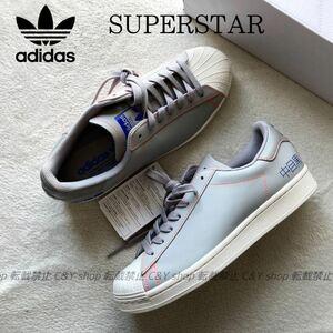 27.0 新品 SST adidas アディダス スーパースター superstar pure スニーカー シューズ グレー ホワイト 白 中目黒 FV2834