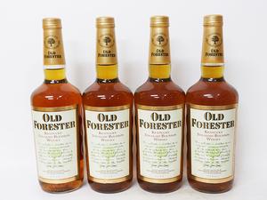 ★オールド フォレスター バーボン ウイスキー OLD FORESTER 90年代中期流通品 *4本セット / アルコール度数:43% 内容量:750ml A