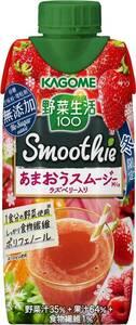 ラズベリー入り!カゴメ 野菜生活100Smoothie(スムージー) あまおうMixラズベリー入330ml ×12本