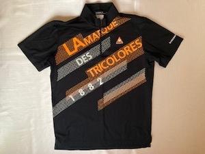 美品! ルコック le coq sportif 半袖シャツ サイズLL 黒×オレンジ かっこいい!