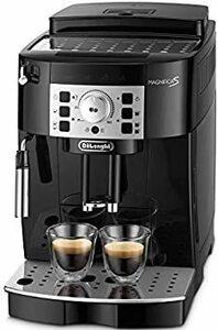 ブラック 【エントリーモデル】デロンギ(DeLonghi) 全自動コーヒーメーカー マグニフィカS ミルク泡立て:手動 ブラック