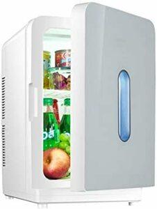 シルバー ミニ冷蔵庫 小型 保温保冷両用 静音設計 清掃しやすい 大容量 持ち運び便利 温冷庫 コンパクト 家庭・車載両用 一人