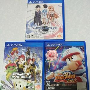 PS Vita セット 実況パワフルプロ野球2014 デジモンストーリー ホロウリアリゼーション