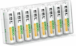 大容量なので、普通よりちょっと太い EBL 単3充電池 8個 パック 2800mAhニッケル水素充電電池 充電式電池 単三電池