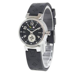 (未使用 展示品)ルイ・ヴィトン タンブール ラブリーカップ 12Pダイヤ 腕時計 クオーツ レディース Q12M1 ブラック 黒