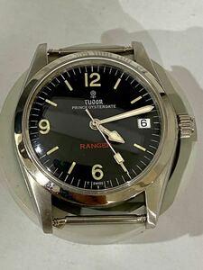☆1円~ メンズ腕時計 ヴィンテージ チュードルTudor Ranger Prince Oysterdate- Ref : 9050 自動巻き ブラック文字盤(15-15.10)