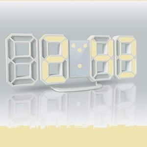 ラスト1点 新品 LEDデジタル デジタル時計 T-2Z ホワイト AL-02-W-N 目覚まし時計 時計 壁掛け 3D led wall clock 置き時計 置時計