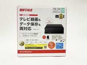 BUFFALO/バッファロー 外付けHD 6.0TB/HD-EDS6.0U3-BA 【新品未使用】