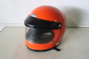 TB526ショウエイSHOEI バイクヘルメット 2種 ST-R◇Lサイズ/フルフェイス/Lサイズ/51.12.13/T8133/オレンジ/シールド/古道具タグボート