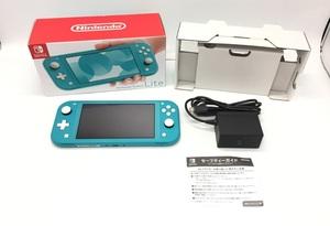 Nintendo Switch Lite/ニンテンドースイッチライト ターコイズブルー ☆良品☆ [296-0619-N2]