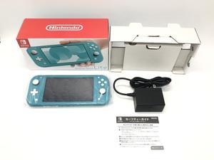 Nintendo Switch Lite/ニンテンドースイッチライト ターコイズブルー ☆良品☆ [296-0623-N3]