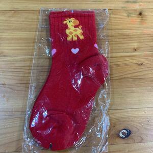 靴下 新品未使用 子供用 女の子 赤色