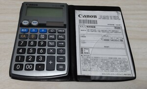 Canon 電卓 手帳型計算機