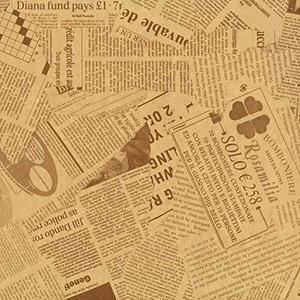 ☆★大特価★☆新品☆未使用★ 英字新聞紙柄 【フジパック】 G-OU 包装紙 ラッピングペ-パ- 100枚 おしゃれでかわいいデザイン