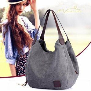 新品ファッション小物 バッグ かごバッグ トートバッグ ショルダー レディース かばん 肩掛けバッグ 収納 大きめ キャンパス 大容量 カ