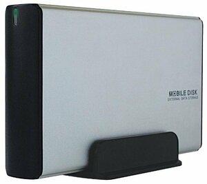 シルバー USB3.0 玄人志向 HDDケース(シルバー) 3.5型対応 USB3.0接続 電源連動機能付きで消し忘れを防止/玄