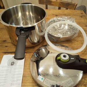 ティファール 圧力鍋 6L 1度使用 美品 セキュアネオ