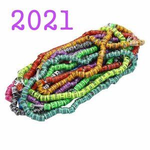 新品 AT9910 個 2021 多色鳩の足のリング単語イヤリング品質耐久性のある鳥リングレース鳩足リング鳥ツール VI46