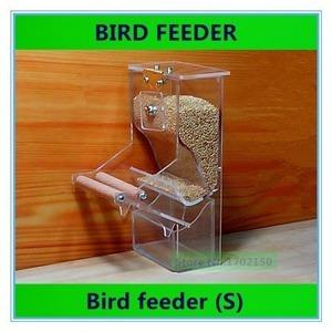 新品 インコ オウム AT7212 自動 保存容器 エサ入れ 小鳥 クリア 文鳥 容器 餌入れ 鳥用 透明 フィーダRH17