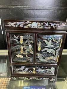Cod 13 アンティーク 木製 アクセサリーケース 宝石箱 ジュエリーボックス 小物入れ ビンテージ ヴィンテージ 小さな世界