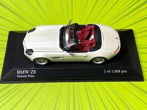 ● 1/43 1999 BMW Z8 パールホワイト ボンネット開閉  限定 ミニチャンプス Minichamps IXO スパーク