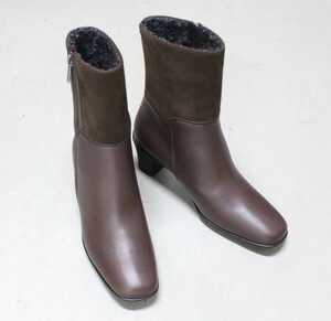 ゴアテックス ショートブーツ マドラスウォーク 茶色 23.5cm  3E レディース ブーツ 防水  防滑 定価22000