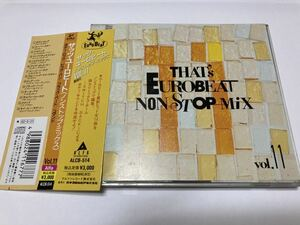 廃盤 帯付CD THAT'S EUROBEAT NONSTOP MIX ザッツ・ユーロビート ノンストップ・ミックス VOL.11