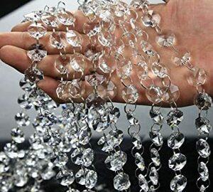 新品AFKshop 八角珠ビーズカーテン クリスタル 珠のれん 装飾 DIY 10本ZP28