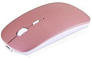 【新品未使用】ワイヤレスマウス 無線マウス 静音 充電式 薄型 Bluetooth 持ち運び USB Bluetoothマウス