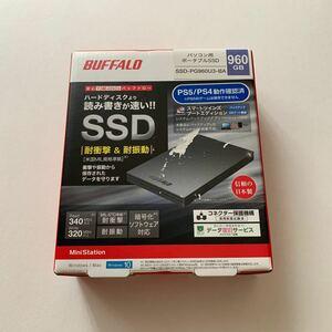 未開封 ポータブルSSD BUFFALO SSD-PG960U3-BA