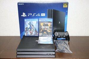 【美品 完動品】PlayStation 4 Pro CUH-7000B B01 1TB(No.188) Devil May Cry 5,CALL OF DUTY BLACK OPS 2本ソフトセット