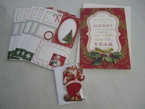 アメリカ USA アンナグリフィン クラシカルデザイン クリスマスカード シール アンティークスタイル クリスマスツリー サンタさん
