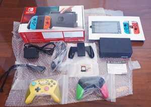 豪華 Nintendo Switch 付属品完備 プロコントローラー ピカチュウ スプラトゥーン 人気ソフト 付き 動作品 送料無料