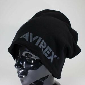 アヴィレックス ニットキャップ AVIREX REVERSIBLE SWEAT CAP ブラック ミリタリー リバーシブル メンズ レディース 新作