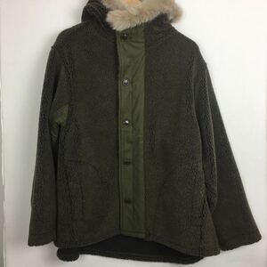 【orslow】オアスロウ★ファーフーデッド フリースジャケット M-43 サイズ1 ポリエステル ブラウン メンズ 10