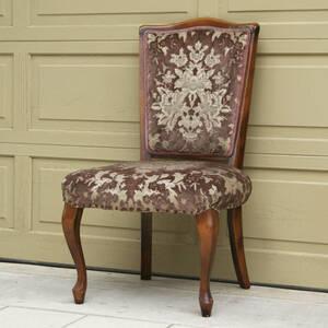 H0170【アンティーク チェア 古~いですがシンプルな猫脚が素敵な椅子です!】ヴィクトリアン・レトロ・クイーンアン・ビンテージ・骨董◎