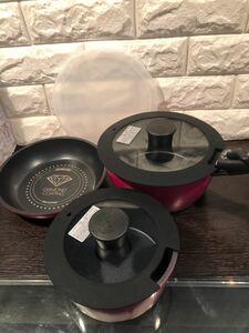 アイリスオーヤマ フライパン+鍋2種類