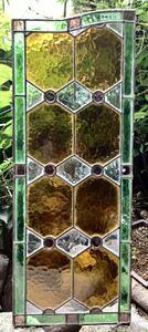 ◆大正 アンティーク ステンドグラス 硝子 #483◆