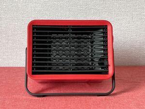 IDEA  コンパクトセラミック ファンヒーター  Bucket2  RED かわいいです。 イディア