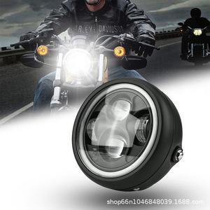 バイク LED ヘッドライト イカリング付き 激光 ブラック カフェ【55w 6500K】ベーツライト/ W CB XJR SR TW