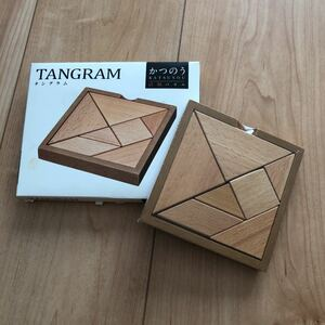 ハナヤマ かつのう 未開封 タングラム ブナ材 問題集無 木製パズル 木のおもちゃ 木製