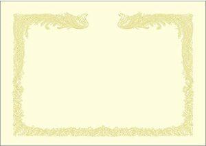 クリーム色 A4 ササガワ 賞状用紙 タカ印 OA対応 縦書き用 クリーム A4 100枚 10-1467