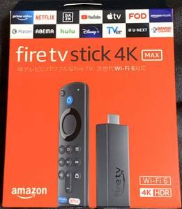 ■新品/送料無料■Amazon Fire TV Stick 4K Max Alexa対応音声認識リモコン付属 最新モデル Wi-Fi 6対応